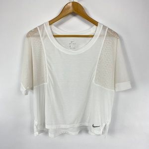 Nike Dri Fit Oversized Tee White Sheer 3638